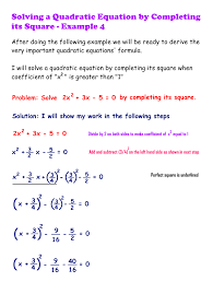 quadratic equations solve by completing the square method steemkr