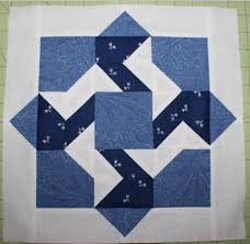 Free Quilt Patterns & Quilt Block Patterns for Blue Fabric & 7 free quilt patterns to beat the winter blues. Blue Block 4 Adamdwight.com