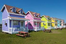 Small Picture Community of Tiny Colorful Cottages in Hatteras North Carolina