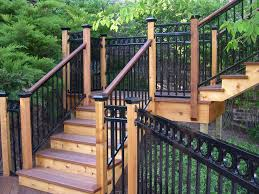 image of the best wrought iron deck railing