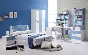 relaxing bedroom color schemes. White Wardrobe With Blue Accent Color Also Bookcase Study Table And Queen Size Bed In Kids Bedroom Relaxing Schemes I