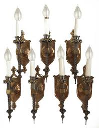 pairs of single armed sconces 325 175