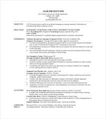 Resume For Mba Application