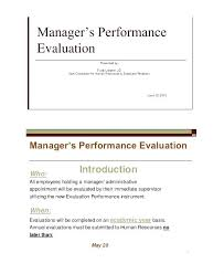 Manager Self Evaluation Sample Supervisor Assessment Examples Best ...
