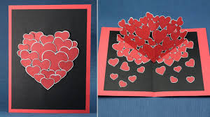 diy valentine pop up card how to make pop up hearts card for valentine s day you