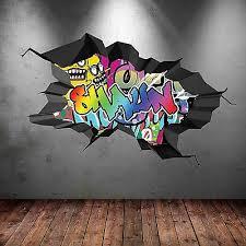 personalised graffiti wall art sticker