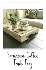farmhouse coffee table tray i really