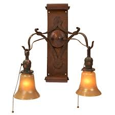 gustav stickley two light wall sconce one of a pair eastwood