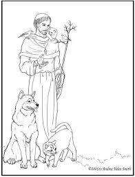 Saint Francis Of Assisi Coloring Page Murderthestout