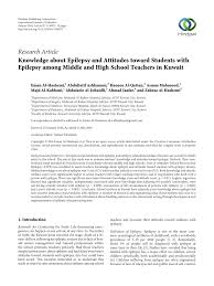 Pdf Knowledge About Epilepsy And Attitudes Toward Students
