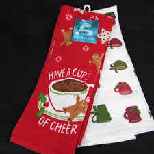 cup of cheer holiday kitchen towel 2 pack gingerbread holly coffee mugs stnicholquare cupofcheer gingerbread coffeelove christmas christmasgifts