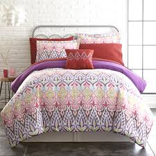 pacific coast textiles tribal ikat 8 pc printed reversible complete bedding set