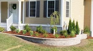 retaining wall shrub tree planting