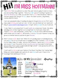 3 Teacher Chicks Welcome Letter To Students And Parents Teaching