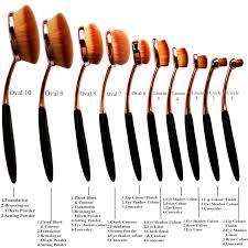pro 10pcs oval toothbrush lip powder blusher foundation eye makeup brushes set 1461824895 8797 jpg 1461824887