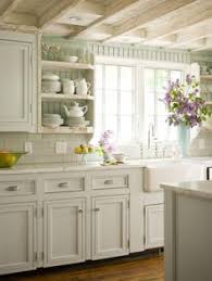 decorating ideas kitchen. Modren Kitchen New Kitchen Cottage Style Decorating Ideas For CasualBeadboard Subway  Tile And White CabinetsOH THAT CEILING Inside R