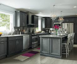 image of dark gray kitchen cabinets wood