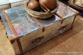 aluminum trunk coffee table mayasaravia co