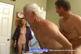 Bisexual threesome old mature