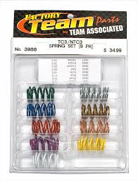 Team Associated B6 Spring Chart Team Associated Factory Team Sedan Complete Spring Kit