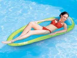 Swimways Spring Float Papasan Pool Chair Light Blue Lime Swimways Spring Float Original 13004 Buy Online In Uae