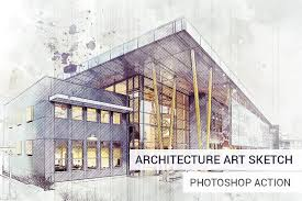 architecture sketches. architecture sketch photoshop action actions sketches