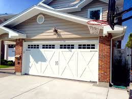 16 x 7 garage door16x7 Wayne Dalton Model 6600 in a Lexington Sq top door design