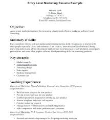 Objectives For Entry Level Resumes Sample Resume Objective Entry ...