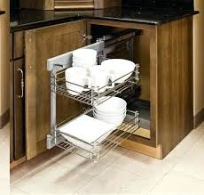 using blind corner pullout wire rack cabinet pull out storage