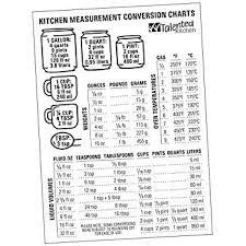 Cooking Conversion Chart Cups To Grams