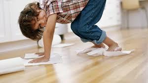 avoid water and vinegar to best clean hardwood floors