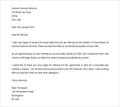 letter to accept job 12 acceptance letter templates free sample example format