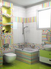 Cheerful Ideas To Decorate Functional Colorful BathroomColorful Bathroom