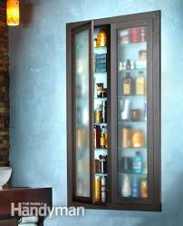 add glass doors to your built in shelves