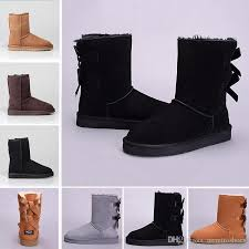 winter wgg leather women australia classic kneel half boots ankle boots black grey chestnut navy blue red womens girl boots 36 41 winter shoes low boots