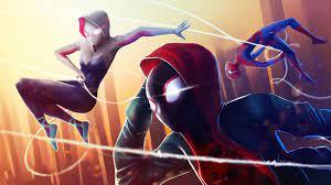 Wallpaper 4k Spider Verse Superheroes ...