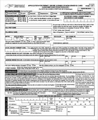 Dmv Application Form Sample DMV Application Form 100 Examples in Word PDF 2