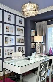 white airy home office. A Gray And White Accent Wall Is Definitely Chic Stylish In This Corner Home Office With Shaggy Rug On The Floor. Small Desk Cool Reverse Airy