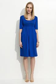 Light Blue 3 4 Sleeve Dress Folly Blue Dress Casual 3 4 Sleeve Midi Thin Fabric Baby Doll Type With Pockets