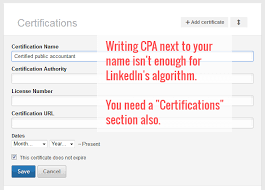 Presenting Your Pe Cpa Or Mba Title On Linkedin Resume Hacking