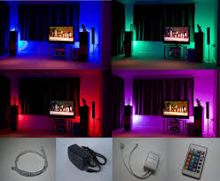 home led lighting strips. Colour Changing LED Mood Light Kit With IR Remote Control 4 X 500mm Strips: Amazon.co.uk: Kitchen \u0026 Home Led Lighting Strips -