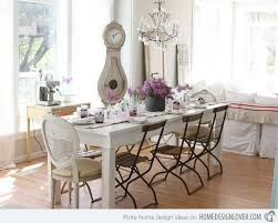 Dreamy white shabby chic dining room. So pretty, dreamy and charming!