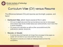 Cv Versus Resume Creating An Effective Resume Cover Letter Ppt Download 59