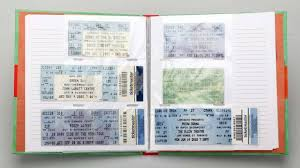Ticket Stub Diary Looks Like A Cool Way To Save Your Show Tickets
