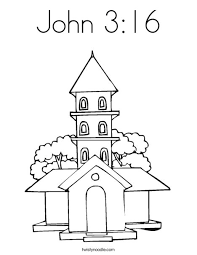 John 3 16 Coloring Pages Page Twisty Noodle