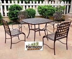iron patio furniture used