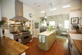 modern cottage kitchen design. Interior:Modern Open Cottage Kitchen Design Style With Luxury Chandelier Idea Modern Farmhouse