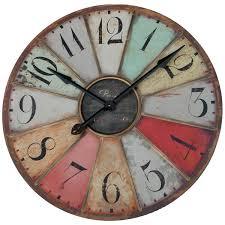 Retro Kitchen Wall Clocks Big Vintage Fleur De Lis French Country Tuscan Style 29 Large