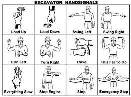 Elcosh Excavator Hand Signals