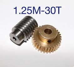 <b>1Set 1.25M 30T Reduction Ratio</b>:<b>1:30</b> Copper Worm Gear Reducer ...